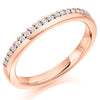 Ring - Round brilliant cut diamond claw set band ring, 0.22ct  - PA Jewellery