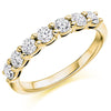 Ring - Round brilliant cut diamond claw set half eternity ring, 0.75ct  - PA Jewellery