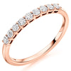 Ring - Round brilliant cut diamond claw set half eternity ring, 0.33ct  - PA Jewellery