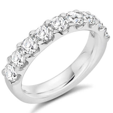 Ring - Round brilliant cut diamond micro claw set half eternity ring, 1.50ct  - PA Jewellery