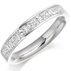 Ring - Princess and baguette cut diamond half eternity ring, 0.75ct  - PA Jewellery