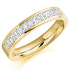 Ring - Princess and baguette cut diamond half eternity ring, 1.00ct  - PA Jewellery