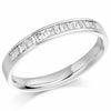 Ring - Baguette cut diamond channel set half eternity ring, 0.33ct  - PA Jewellery