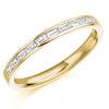 Ring - Baguette cut diamond channel set half eternity ring, 0.30ct  - PA Jewellery