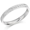 Ring - Princess cut diamond channel set half eternity ring, 0.50ct  - PA Jewellery