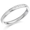 Ring - Princess and baguette cut diamond half eternity ring, 0.30ct  - PA Jewellery