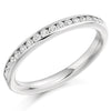 Ring - Round brilliant cut diamond channel set half eternity ring, 0.33ct  - PA Jewellery