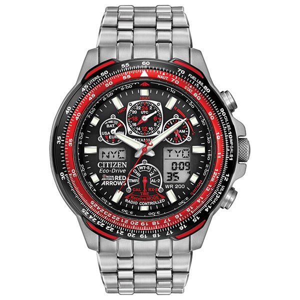 Men's Citizen Red Arrows Skyhawk A-T in titanium JY0110-55E