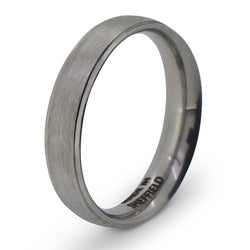 'The Devonshire Green' brushed finish court profile band in Sheffield steel