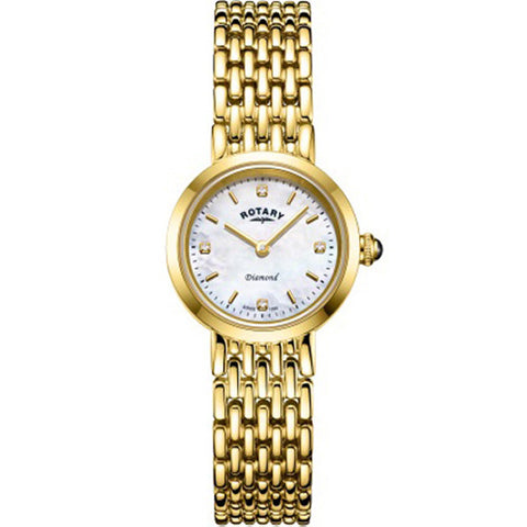 Ladies' Rotary Balmoral in yellow PVD plated stainless steel LB00900/41/D