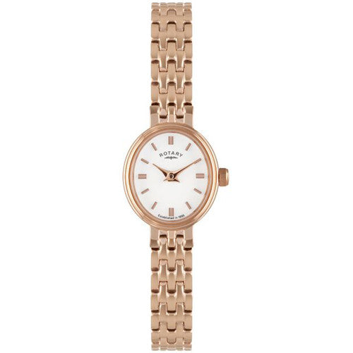 Watch - Ladies' Rotary in rose PVD plated stainless steel LB02085/02  - PA Jewellery