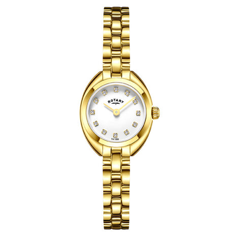 Ladies' Rotary Petite in yellow gold plated stainless steel LB05015/11