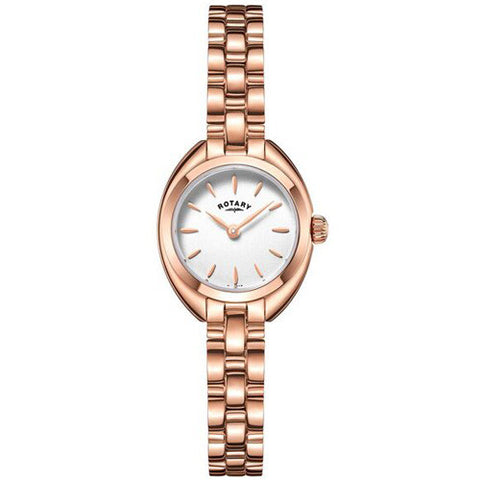 Watch - Ladies' Rotary Petite in rose PVD plated stainless steel LB05016/02  - PA Jewellery