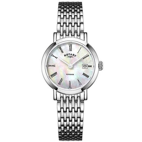 Watch - Ladies' Rotary Windsor in stainless steel LB05300/07  - PA Jewellery
