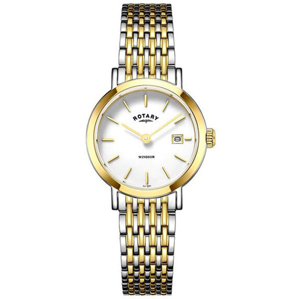 Ladies' Rotary Windsor in two tone stainless steel LB05301/01
