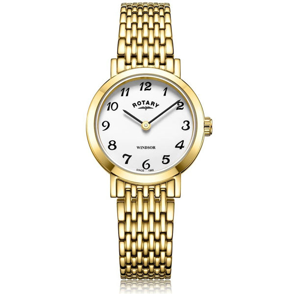 Ladies' Rotary Windsor in yellow PVD plated stainless steel LB05303/18