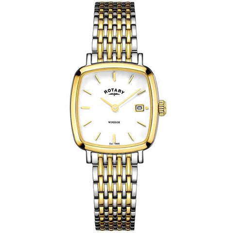 Watch - Ladies' Rotary Windsor in two tone stainless steel LB05306/01  - PA Jewellery