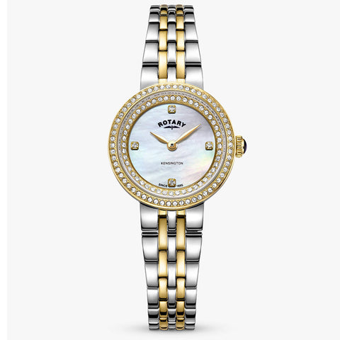Ladies' Rotary Kensington in stainless steel and yellow PVD LB05371/41