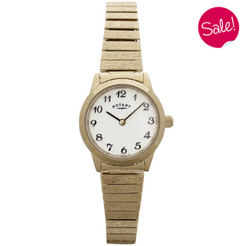 Ladies' Rotary in yellow gold plated stainless steel LBI00762
