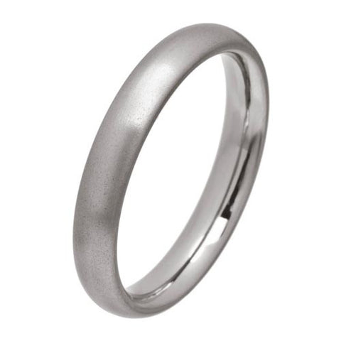 Ring - Rounded heavy court section 4mm band in titanium  - PA Jewellery