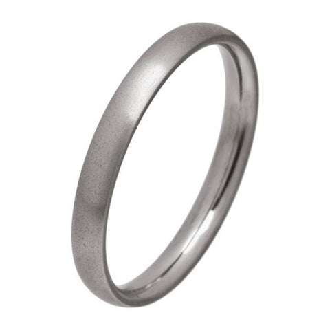 Ring - Court section 3mm band in titanium  - PA Jewellery