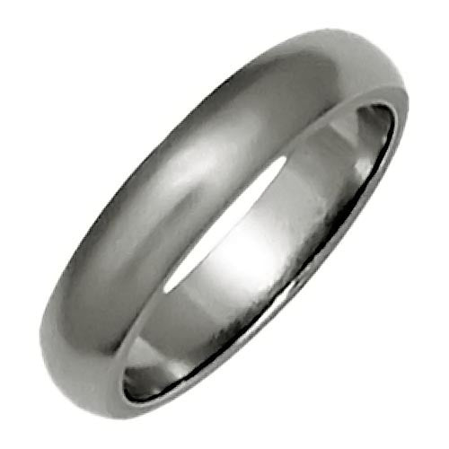 Ring - D-shape 4mm band in titanium  - PA Jewellery