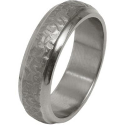 Ring - Textured finish 6mm band in titanium  - PA Jewellery