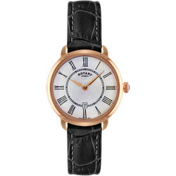 Ladies' Rotary Elise in rose gold plated stainless steel on leather LS02919/41
