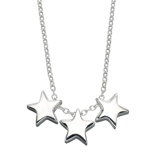 Three star necklace in silver