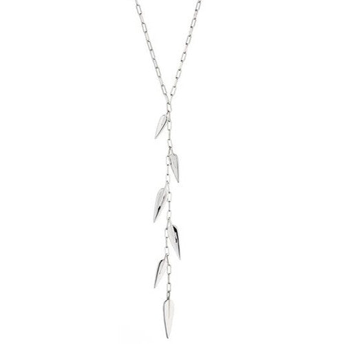 Leaf cascade necklace in silver