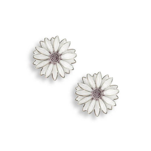 African Daisy stud earrings in silver