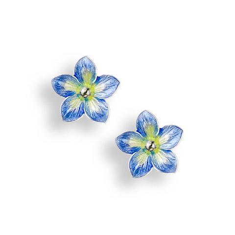 Forget-Me-Not stud earrings in silver