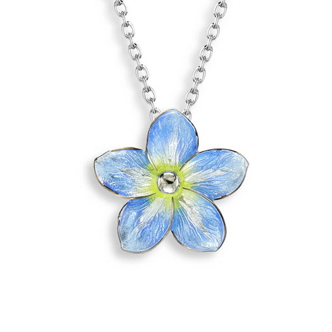 Forget-Me-Not pendant and chain in silver