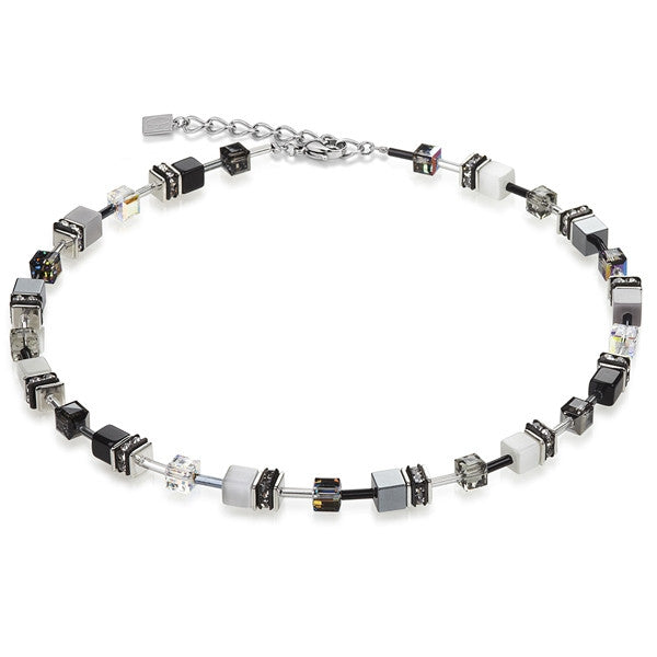 Neckwear - Black and white cube necklace - 4014/10-1412  - PA Jewellery