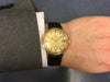 Omega De Ville in 9ct yellow gold on leather, 166.5020