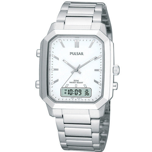 Watch - Men's Pulsar in stainless steel PBK021  - PA Jewellery