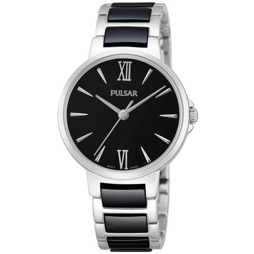 Watch - Ladies' Pulsar in stainless steel and ceramic PH8077  - PA Jewellery