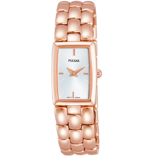 Watch - Ladies' Pulsar in rose gold plated stainless steel PJ4004  - PA Jewellery