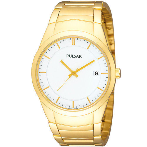 Watch - Men's Pulsar in yellow gold plated stainless steel PS9150  - PA Jewellery
