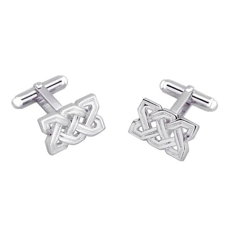 Celtic style cufflinks in silver