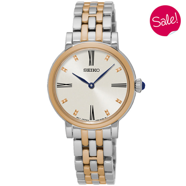 Ladies' Seiko in two tone stainless steel SFQ816P1