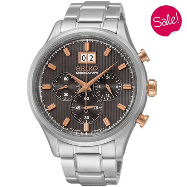 Men's Seiko Sports Chronograph in stainless steel SPC151P1