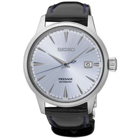 Men's Seiko Presage in stainless steel on leather SRPB43J1
