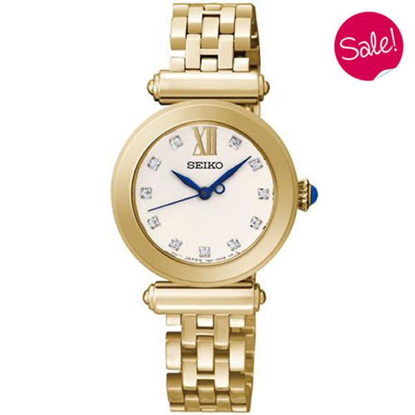 Ladies' Seiko in yellow gold plated stainless steel SRZ402P1
