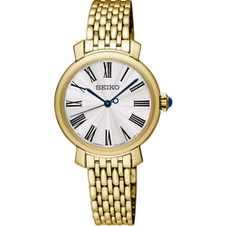 Ladies' Seiko in yellow gold plated stainless steel SRZ498P1