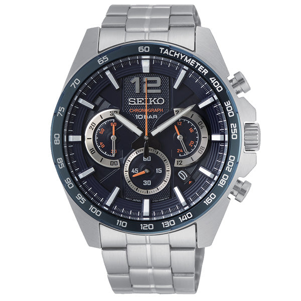 Men's Seiko Sport Chronograph in stainless steel SSB345P1