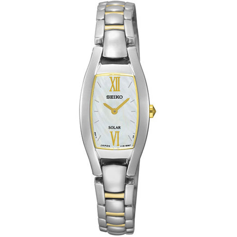 Watch - Ladies' Seiko Solar in two tone stainless steel SUP312P1  - PA Jewellery