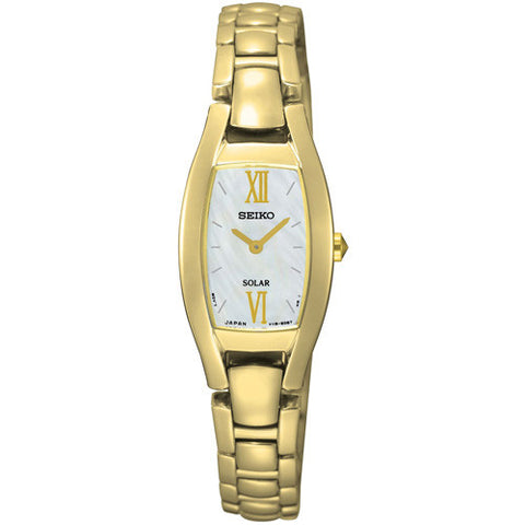 Watch - Ladies' Seiko Solar in yellow gold plated stainless steel SUP314P1  - PA Jewellery