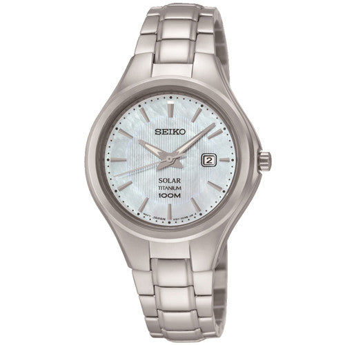 Watch - Ladies' Seiko Solar in titanium SUT205P9  - PA Jewellery