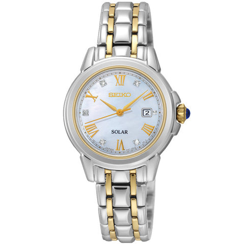 Watch - Ladies' Seiko Solar in two tone stainless steel SUT244P9  - PA Jewellery